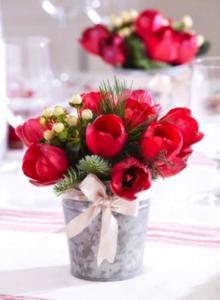 Festive Tulips Centerpiece
