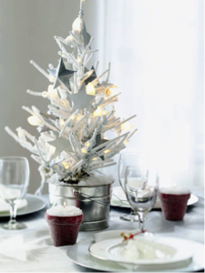 White Hot Holiday Centerpiece
